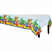 """New Disney Mickey Mouse Roadsters Birthday Party Plastic Table Cover 54"""" x 96"""""""