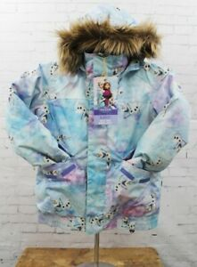 Burton Twist Bomber Insulated Snowboard Jacket Girl's Medium Olaf Frozen New