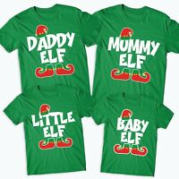 Elf Family T-Shirt Funny Cute Christmas Matching Shirts Gift Kids Mens #XM91