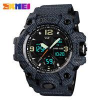 SKMEI Waterproof Men Sport Watch LED Quartz Analog Digital Wrist Watches