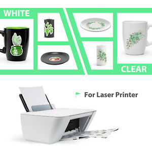10 Sheets Premium LASER CLEAR Waterslide Decal Transfer Paper 8.5x11 Nail Art