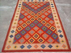 Vintage Turkish Kilim Rug,Large Rug,Tribal Rug 6x9 ft Area Rug, Wool Carpet