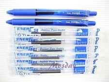 Pentel BL-107 Energel 0.7mm Fine 2 Roller Ball Pens + 6 Refills, BLUE