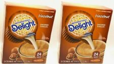 2 International Delight Hazelnut Creamer Singles 24 Count 10.55 OZ Pack