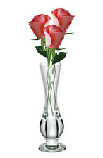 4xClear Plastic Flower Vase Home Wedding Modern Floral Display Table Centrepiece