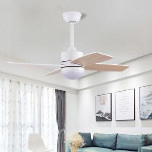 Modern Ceiling Fan with Light 4 Blades Fan Remote Control