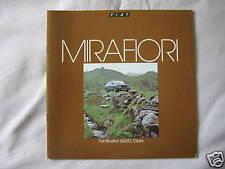 1979 Fiat Mirafiori Brochure Pub.No. 35M.2.79
