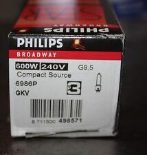 Phillips broadway star 600W 240V G 9,5 lamp globe NEW