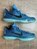 Nike Kobe X 10 (GS) Blue Lagoon/Black Basketball Shoes 726067-403 Size 6 Y
