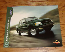 Original 2003 Ford Explorer Sport Trac Sales Brochure 03 XLS XLT 2nd