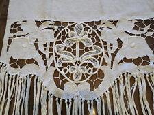 Antique Arts & Crafts Portiere Linen