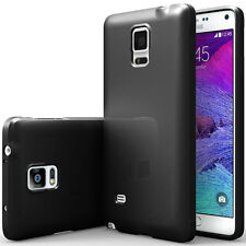 Samsung Galaxy Note 4 Case [Anti-Fingerprint Matte Design] Thin Fit Soft Rubber