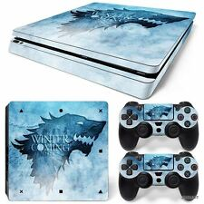 PS4 Slim Playstation 4 Console Skin Decal Sticker Game Of Thrones Custom Design