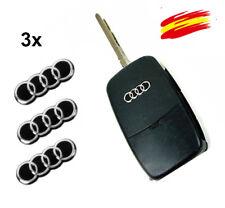 3 x Emblemas Logo Pegatinas 6 x 16 MM  para  Audi Llave MANDO KEY