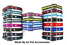 25mm Wide Dog Collars Soft Strong Durable Air Webbing In Various Colours & Sizes