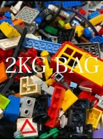 Genuine Lego Bundle/job Lot 2Kg Mixed Bricks,Parts, Pieces And Mini figures.