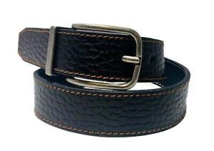 Boys Genuine Pebbled/ Grain Leather Reversible Belt w/ Gunmetal Buckle! WB19121