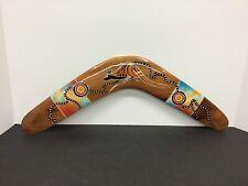 Original Authentic Australian Boomiri Aboriginal Art Wooden Boomerang Handmade