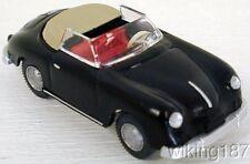 Wiking NEW HO 1/87 Scale Classic 1950's era Porsche 356 Convertible in Black