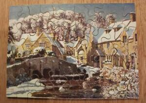 VINTAGE Wooden JIGSAW PUZZLE - CASTLE COOMBE - COMPLETE - NO BOX!