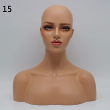 New Realistic Mannequin Head Display Fiberglass Hat Glasses Mold Stand Wig No.15