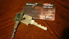New Medeco M3 6 pin Authorization Card with 2 factory cut keys for Medeco Lock