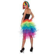 BRIGHT RAINBOW BUSTLE GLAMOUR #SKIRT FANCY DRESS COSTUME FESTIVAL ACCESSORY