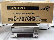 Onkyo C-707Ch 3 Compact Disc Cd Changer Player Shelf HiFi Stereo - Needs Belts