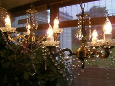 A ~BEAUTIFUL Pair~ of French style 3 light chandeliers in lead crystal