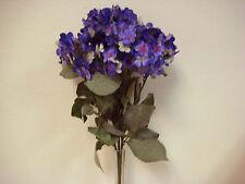"MULTI Colors Hydrangea Bush 9 Heads Artificial Silk Flowers 23"" Bouquet 761NBL"