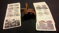Antique 1883 Wooden Stereoscope 3D Photo Viewer w/ 99 Cards SHIP FREE NOW