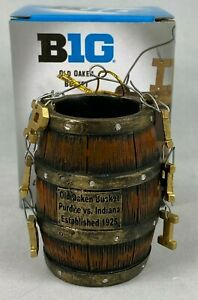 RIVALRY TROPHY OLD OAKEN BUCKET INDIANA VS. PURDUE FOOTBALL CHRISTMAS ORNAMENT