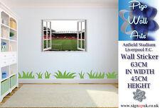 Anfield Stadium wall sticker Liverpool F.C.Kids Bedroom 3D Effect window