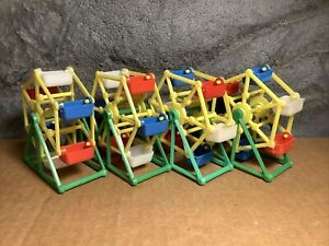 4 Lot  | Ferris Wheel for Parakeet | Toy/Treat Holder | Old Stock | Green-Yellow