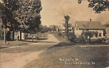 Real Photo Postcard Residences on Western Street in Londonderry, Vermont~109680