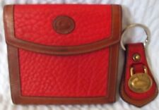 Vintage Dooney & Bourke All Weather Leather Wallet & Key Chain