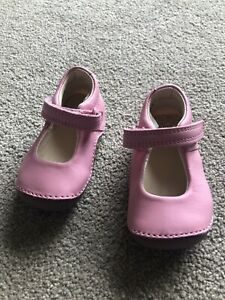 Clarks Baby Girls First Walkers Tiny Mist Pink Leather Shoes Size 2 G NEW BNWOB