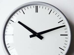 Large PRAGOTRON / VEB Industrial Clock modernist midcentury Bauhaus communist