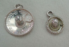 VINTAGE MEXICAN HAT CHARMS  STERLING SILVER