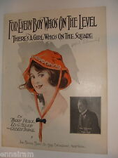 For Every Boy Who's On the Level There's a Girl Who's On the Square 1920