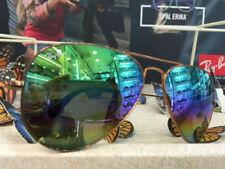 Occhiali da sole da uomo multicolori metallo a specchio