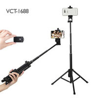 TRIPOD SELFIE STICK WITH WIRELESS REMOTE FOR APPLE IPHONES AND ANDRIOD PHONES