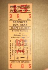 Vintage 1984 Chicago Cubs Spring Training Unused Ticket Seattle Mariners Mint