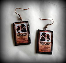 Gone With the Wind Movie Poster Earrings Handmade Polymer Clay