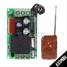 New 220V 1CH 433MHz Wireless Remote Control Relay Switch Transceiver + Receiver
