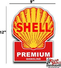 """(shell #4) 12"""" SHELL gasoline pump LUBSTER DECAL GAS OIL SIGN WALL STICKER"""