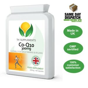 Co Enzyme Q10 CoQ10 300mg 60 Capsules UK Made
