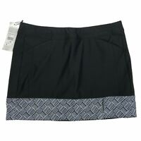 Adidas Golf Womens Skirt Black White Print Hem Stretch Medium M $75 New