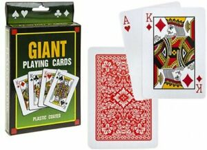 Jumbo Giant Playing Cards 8 x 12cm