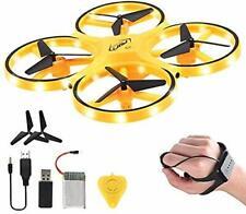 Mini Drone for Kid, 2.4G Gravity Sensor RC Nano Quadcopter [Hand Control] yellow